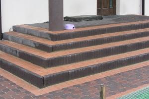 Tarasy i schody z kostki brukowej